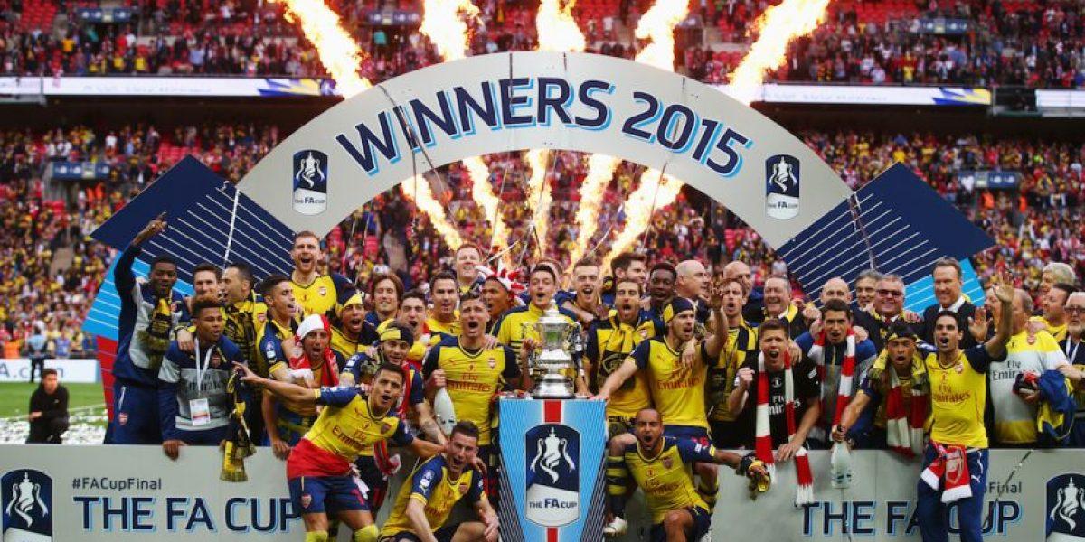 Arsenal celebró en grande su bicampeonato de la FA Cup