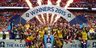Arsenal venció 4-0 al Aston Villa en Wembley y se coronó una vez más, campeón de la FA Cup. Foto:Getty Images