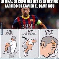 Ahora sí, Xavi se despidió del Camp Nou. Foto:Vía twitter.com/troll_football