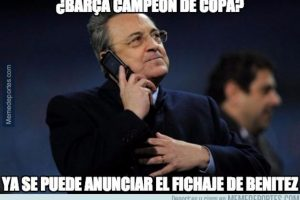 Las burlas también se dirigieron al Real Madrid. Foto:memedeportes.com