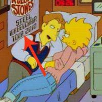 """En 1995, en el episodio """"La Boda de Lisa"""", su prometido tenía un anuncio de la gira de Los Rolling Stones en 2010, en sillas de ruedas. Foto:vía FOX"""