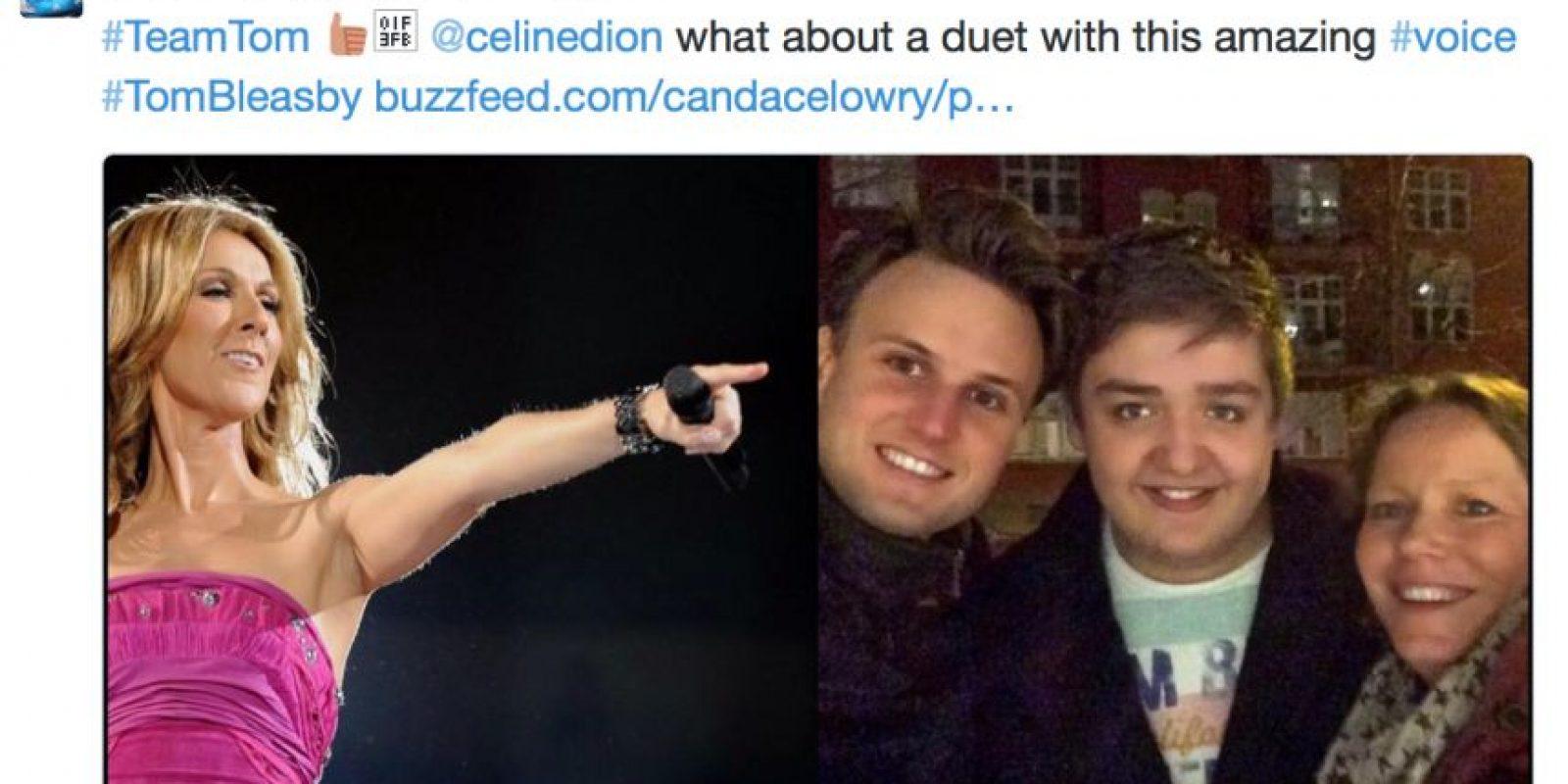 Quienes se sorprendieron con él, piden a otras cantantes hacer un dueto con él. Foto:vía Twitter/Thomas Bleasby