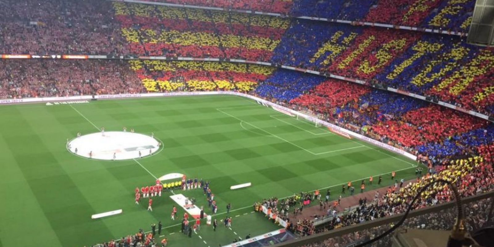 Y la del Barcelona. Foto:Vía twitter.com/alfremartinezz