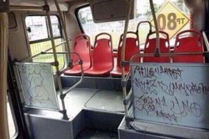 El vandalismo también es dentro de los buses.