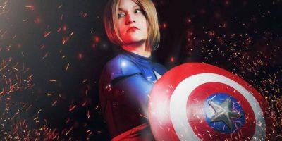 """O un """"genderbend"""" del Capitán América. Foto:vía The Curvy Geek"""
