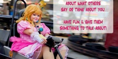 """Esta princessa Peach en """"Mario Kart"""". Foto:vía The Curvy Geek"""