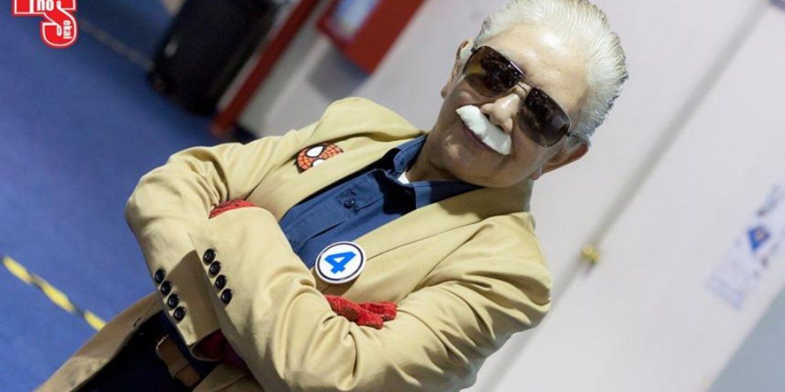 O Stan Lee. Foto:vía Rosy Durán/Facebook