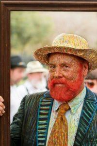 Van Gogh, pintado. Foto:vía GeekyFashion