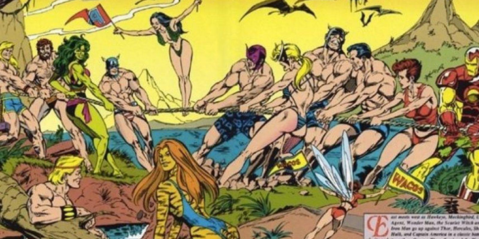 """En los años 90, la industria del cómic decayó y Marvel tomó una de sus más criticadas decisiones: hacer lo mismo que su revista """"Sport Illustrated"""" pero con sus superhéroes. La edición se llamó """"Marvel Swimsuit Illustrated"""" y vivió hasta 1995. Foto:vía Marvel"""