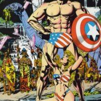 Aquí, el Capitán América. Foto:vía Marvel