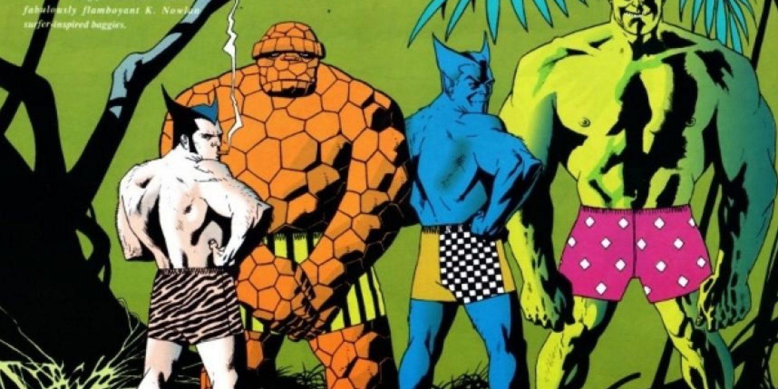 Hulk, en unos gloriosos calzoncillos rosa. Foto:vía Marvel