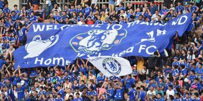 """El partido fue una fiesta para los hinchas """"blues"""" asiáticos. Foto:Getty Images"""