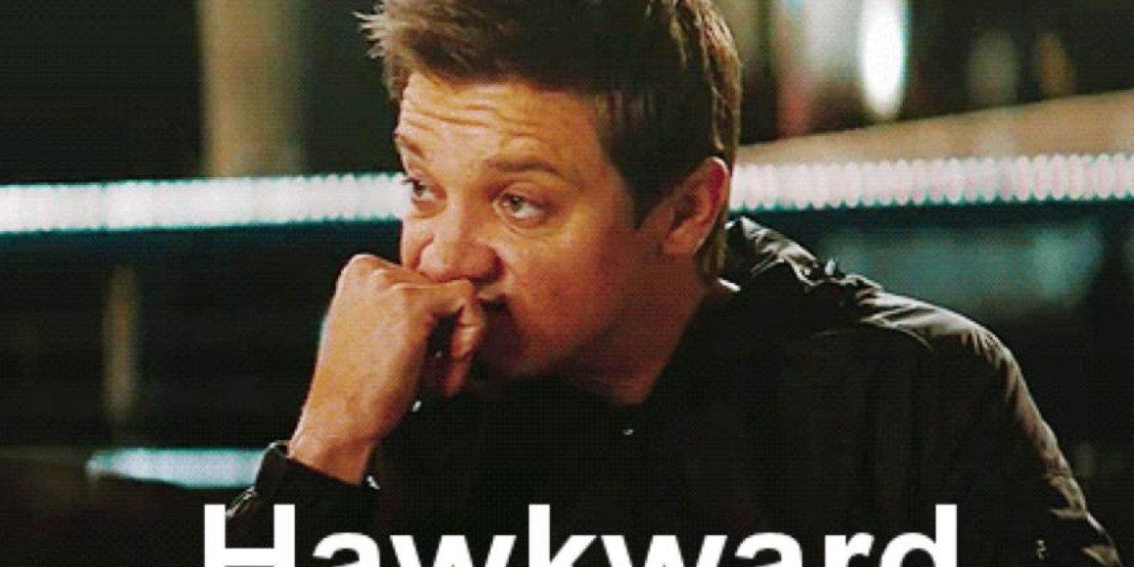Sí, Hawkeye. Menos mal ni saliste. Porque te entendemos completamente. Foto:vía Marvel