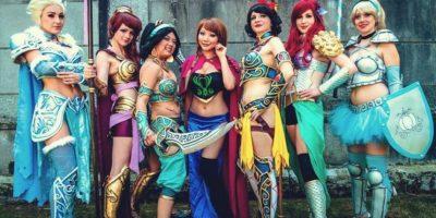 Las princesas Disney en armadura. Foto:vía The Curvy Geek