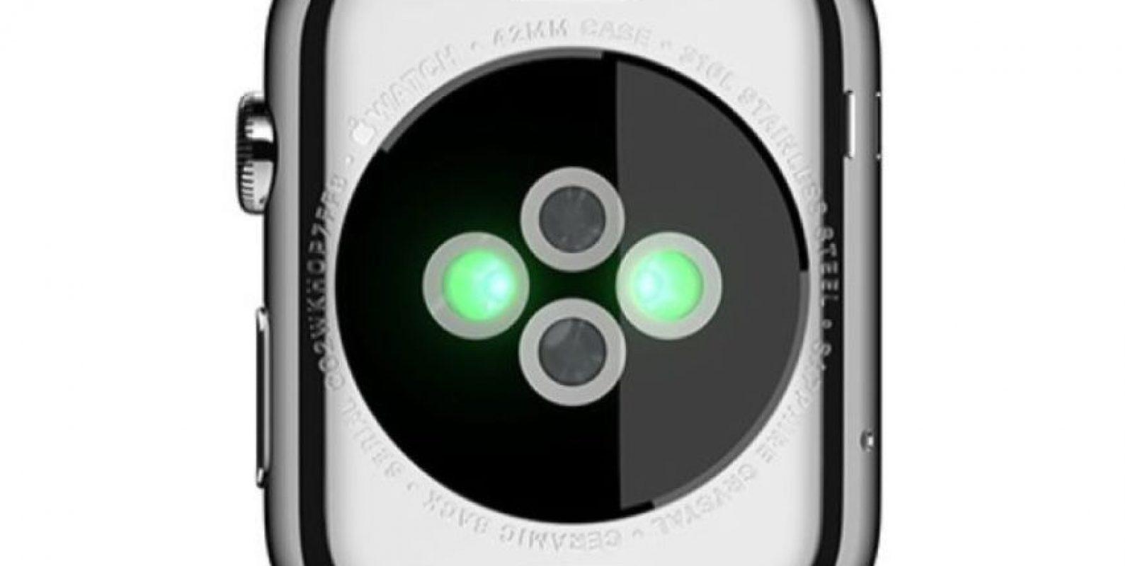 Estos son los sensores con los que se mide la actividad física y cardiaca. Foto:Apple