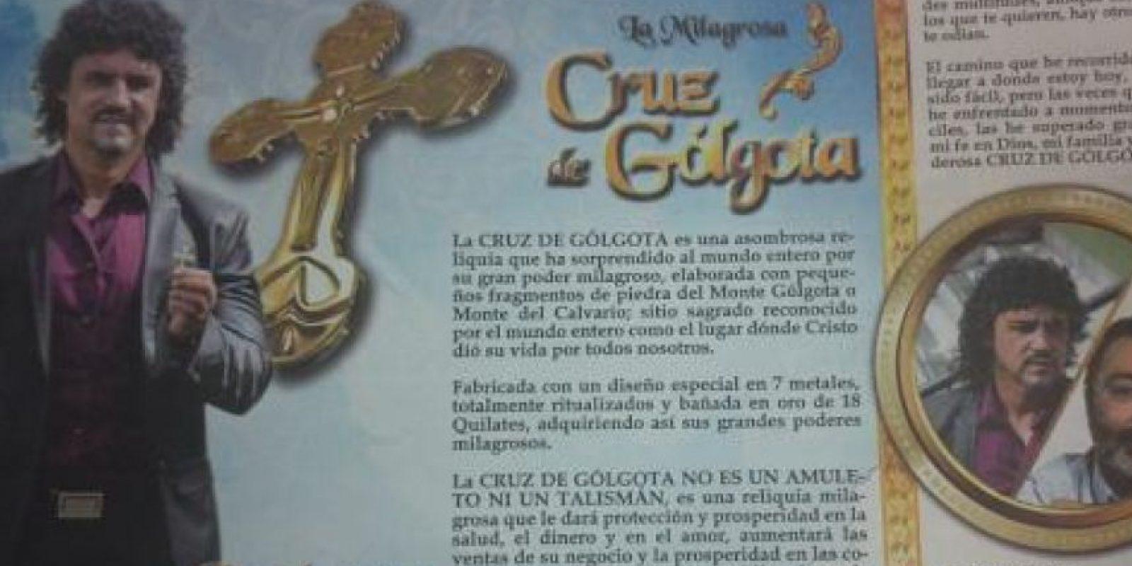 La Cruz de Golgota, que supuestamente estaba hecha con piedras del monte en el que murió Jesús, prometía milagros que no realizaba y fue multada con más de mil millones de pesos.