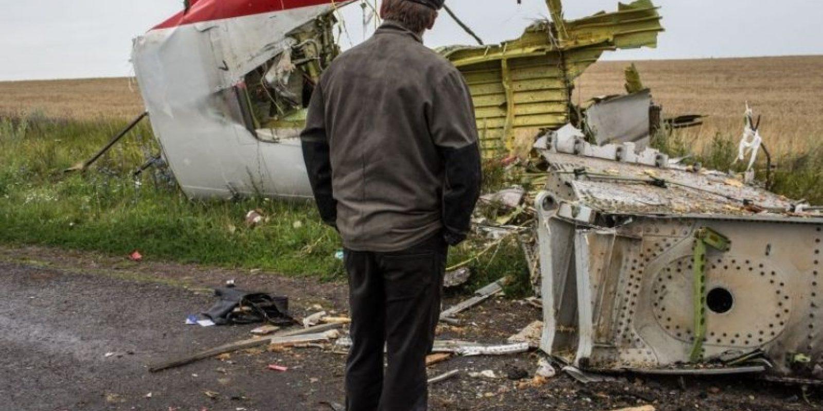 Fue derribado el 17 de julio de 2014. Foto:Getty Images