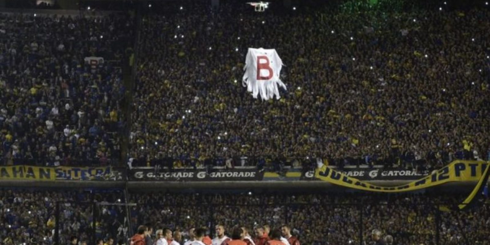 3) En mayo pasado, un drone fue parte del partido de vuelta de los cuartos de final de la Copa Libertadores entre Boca Juniors y River Plate. Foto:AFP