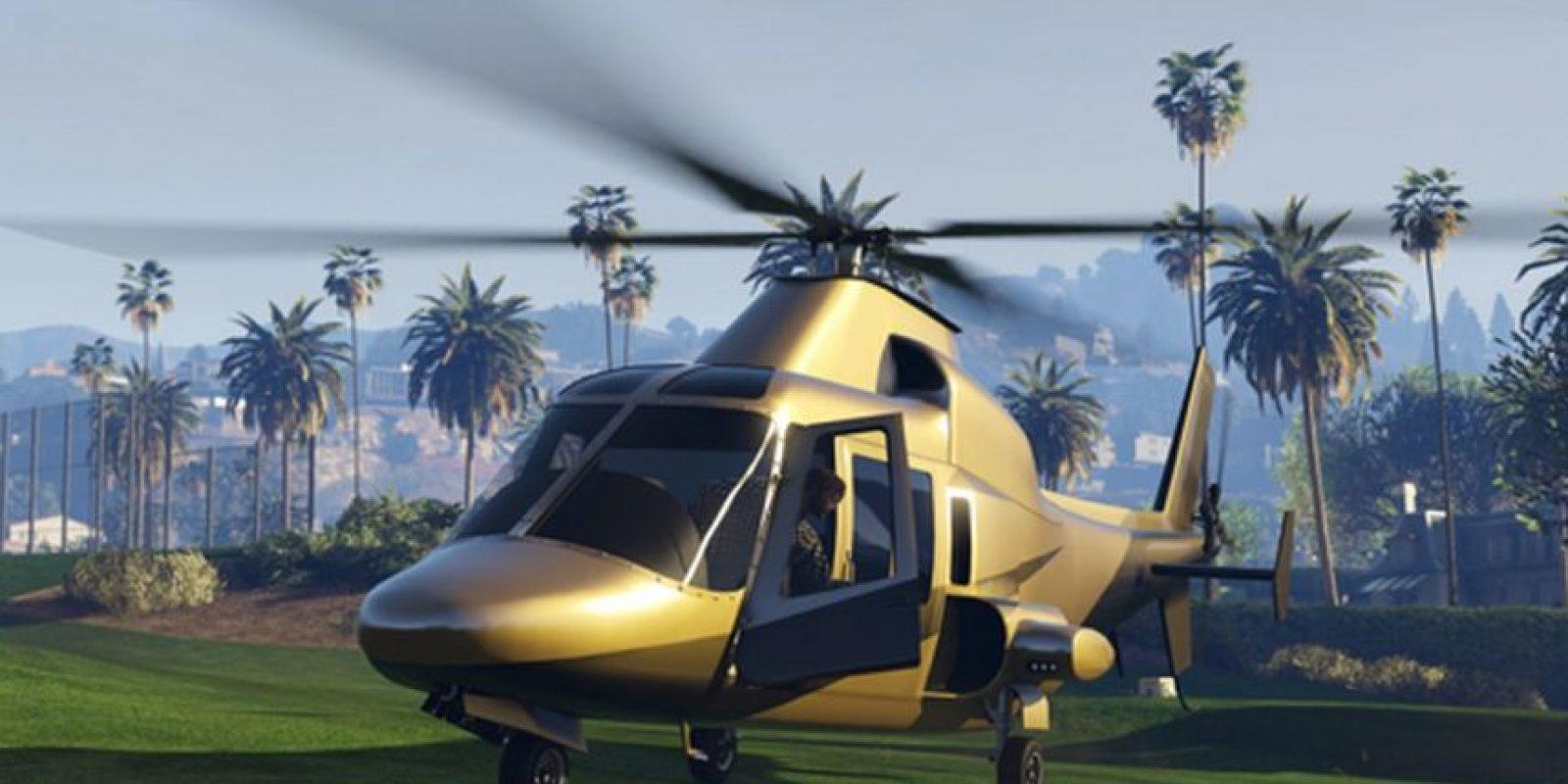 Un helicóptero de oro sólido de Buckingham Swift Deluxe. Foto:Rockstar Games