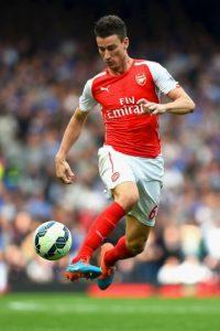 Jugó para el Lorient de la Ligue 1, y en 2010 fue transferido al Arsenal. Foto:Getty Images