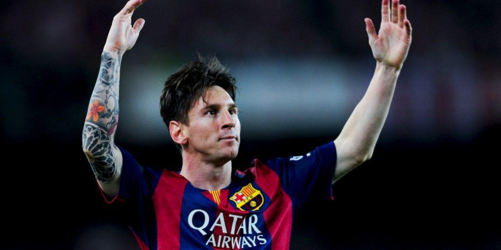 Y Lionel Messi y Javier Mascherano de Barcelona. Foto:Getty Images