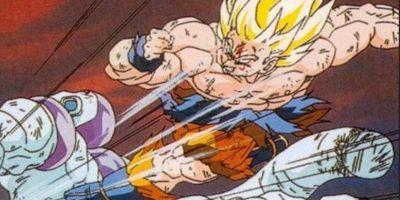 …se convirtió en supersaiyajin y casi no acaba con Freezer, que igual le dio unos muy rendidores 5 minutos para irse del planeta Namekusei, que destruyó. Foto:vía Shueisha