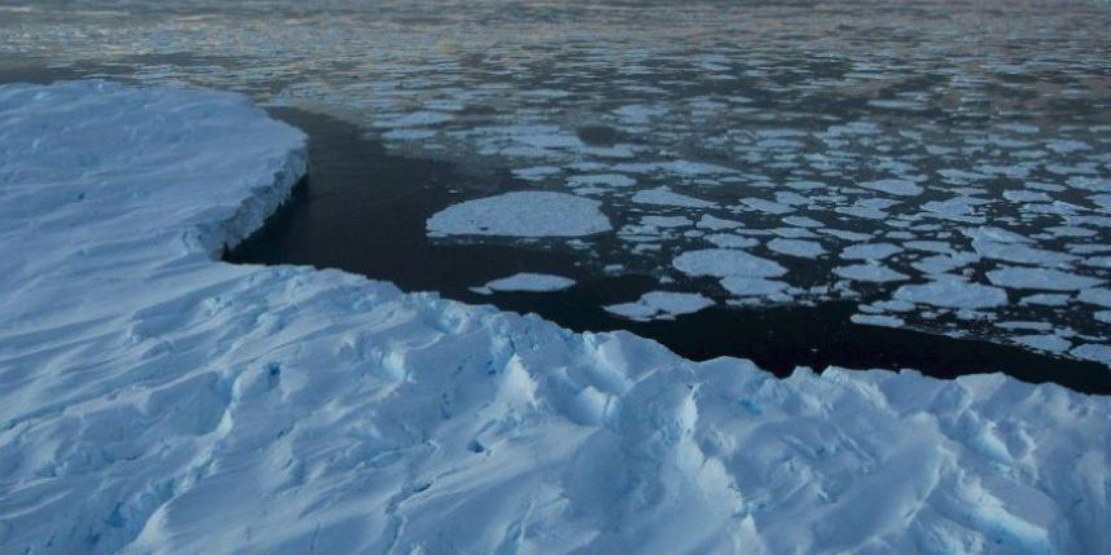 El cambio climático ha hecho que los témpanos se derritan en la bahía Vincennes, en el Territorio Antártico Australiano. Foto:Getty Images