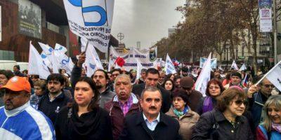 Este lunes comenzó el paro indefinido de los profesores chilenos. Foto:Vía Twitter @MagisterioNac