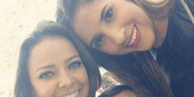 Andrea Salas y Daniela Ospina, esposas de Keylor Navas y James Rodríguez. Foto:Vía twitter.com/andreasalasb