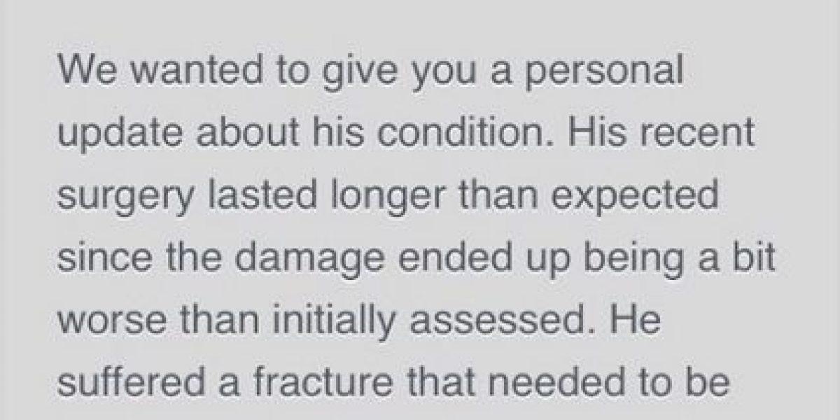 Enrique Iglesias también sufrió fractura de mano tras accidente con dron