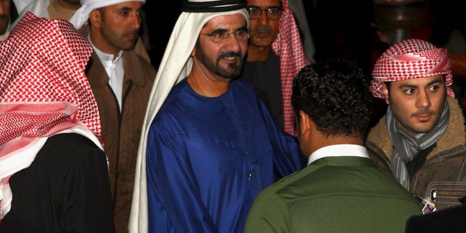 El Primer Ministro de los Emiratos Árabes Unidos y Emir Sheik de Dubai tiene una fortuna calculada en cuatro mil millones de dólares. Foto:Getty Images
