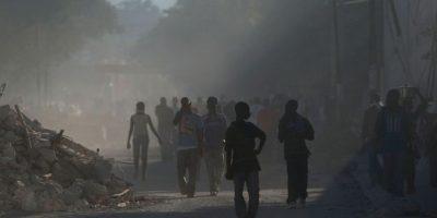 Su epicentro fue en Leogane, a 25 kilómetros de Puerto Príncipe Foto:Getty Images
