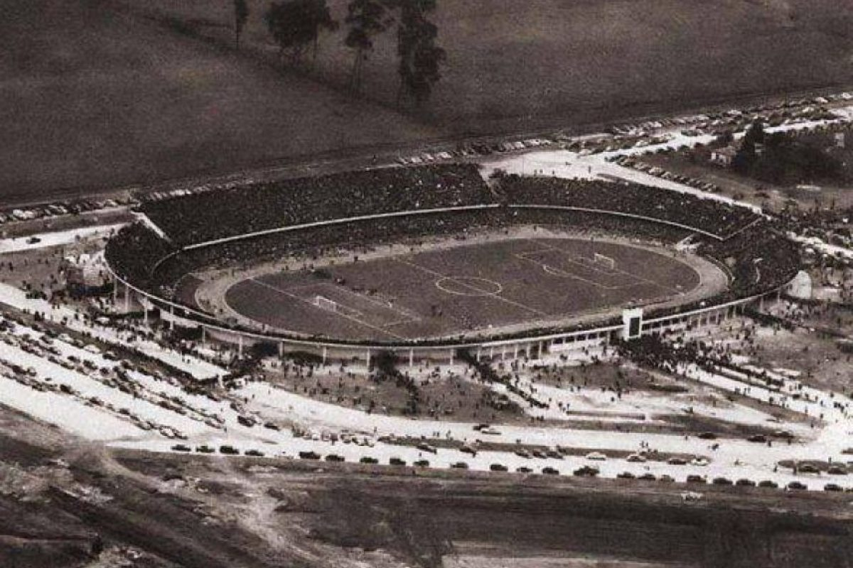 Vista aérea del estadio El Campín en los años 50. Foto:Fabeook / Fotos Antiguas Bogotá