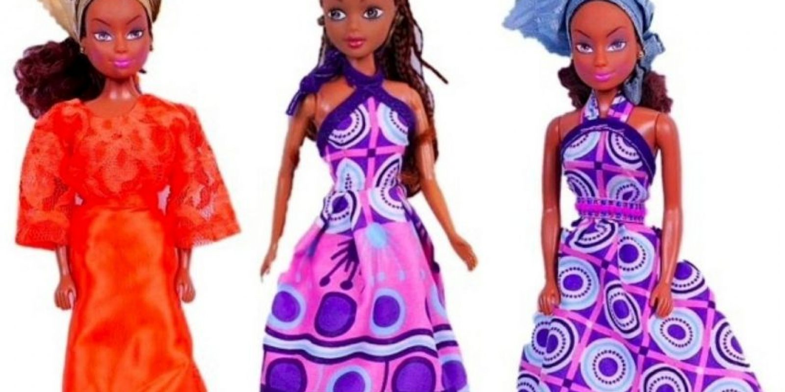 """Las muñecas """"Queens of Africa Dolls"""" fueron creadas por el nigeriano Taofick Ockoya, que no encontraba una Barbie negra para su hija Foto:Queensofafricadolls.com"""