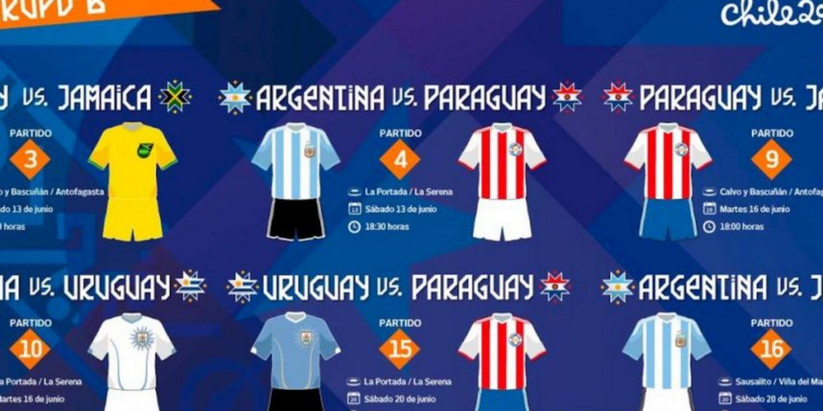 Estas son los uniformes que utilizarán en el sector B Foto:Copa América Chile 2015