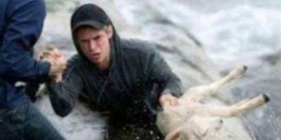 Estos noruegos rescatan a un cabrito. Foto:vía Tumblr