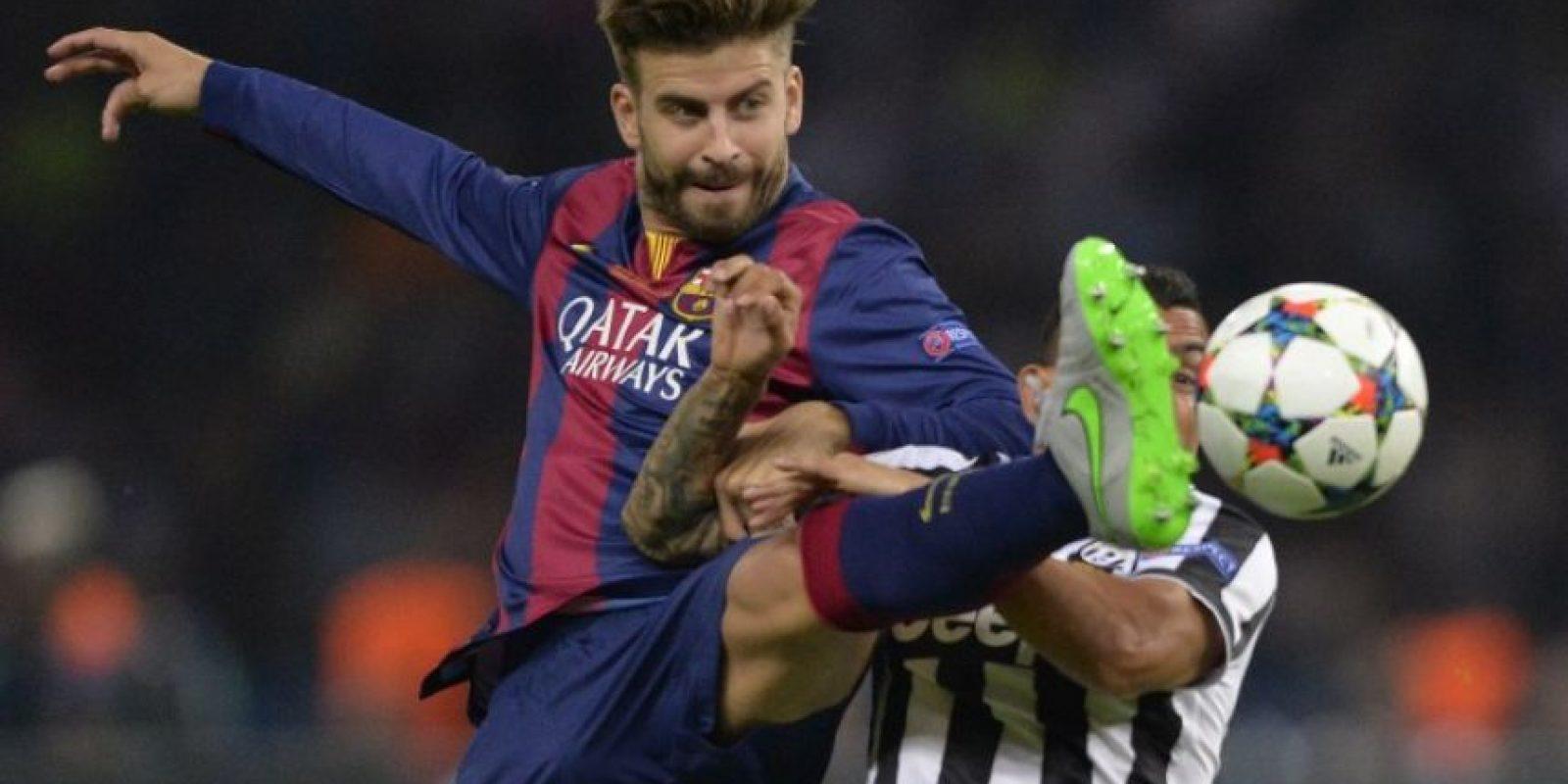Gerard Piqué. El defensa mostró ímpetu e, incluso, tuvo oportunidades de marcar Foto:Getty Images
