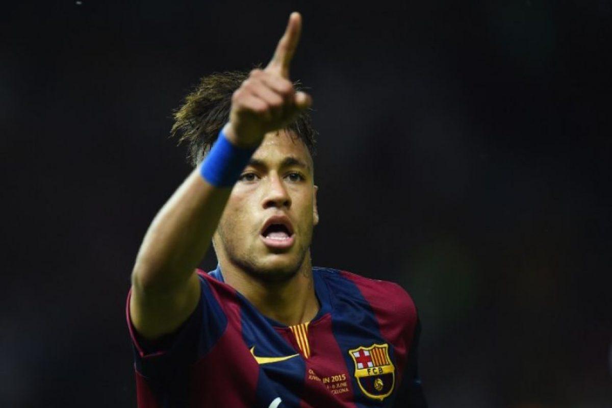 Neymar. Marcó la tercera diana culé Foto:Getty Images