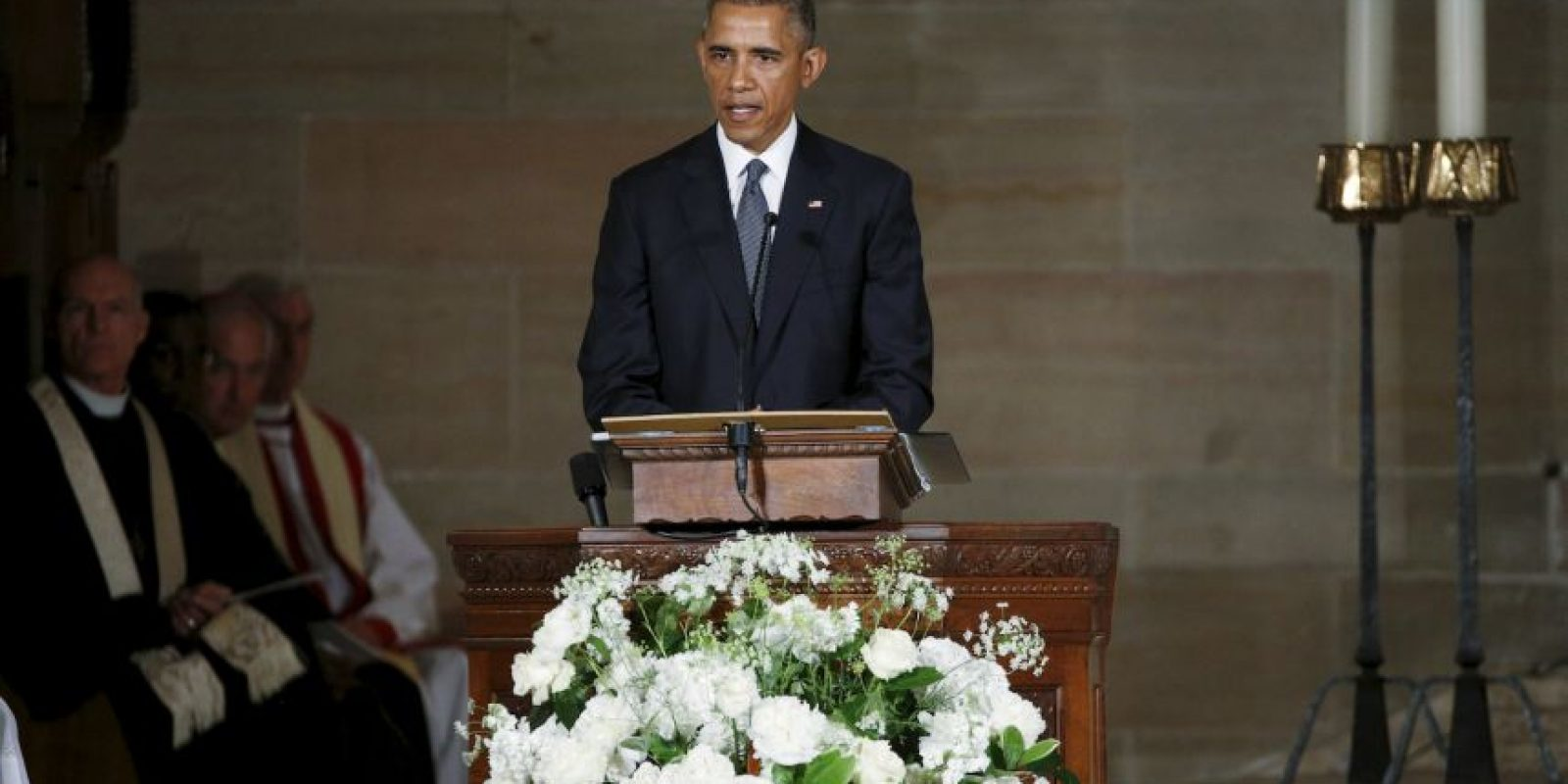 El presidente Barack Obama homenajeó al hijo del vicepresidente Joe Biden. Foto:AFP