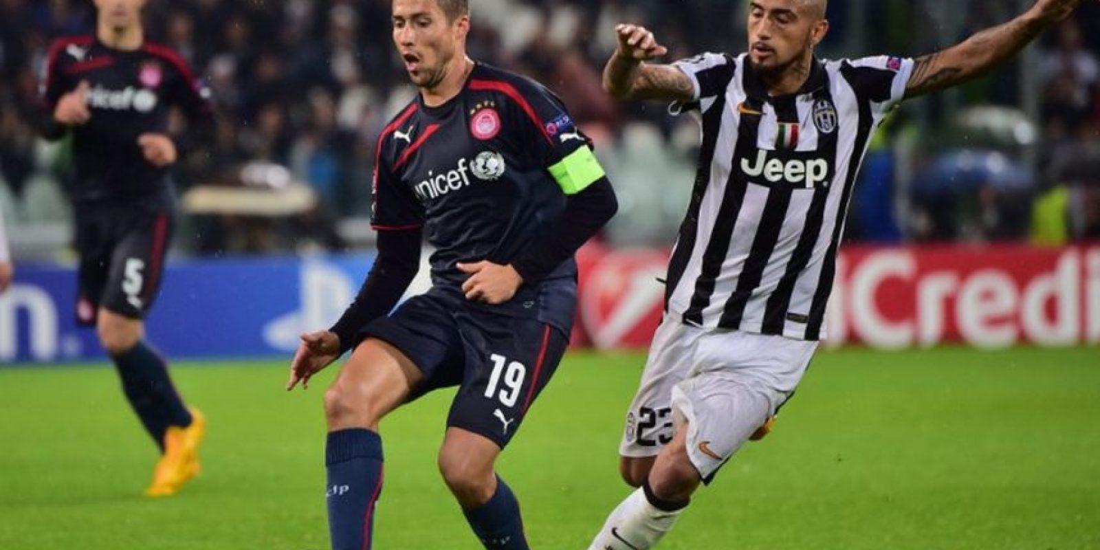 """4 de noviembre de 2014. La """"Vecchia Signora"""" venció 3-2 como local Olympiacos Foto:AFP"""