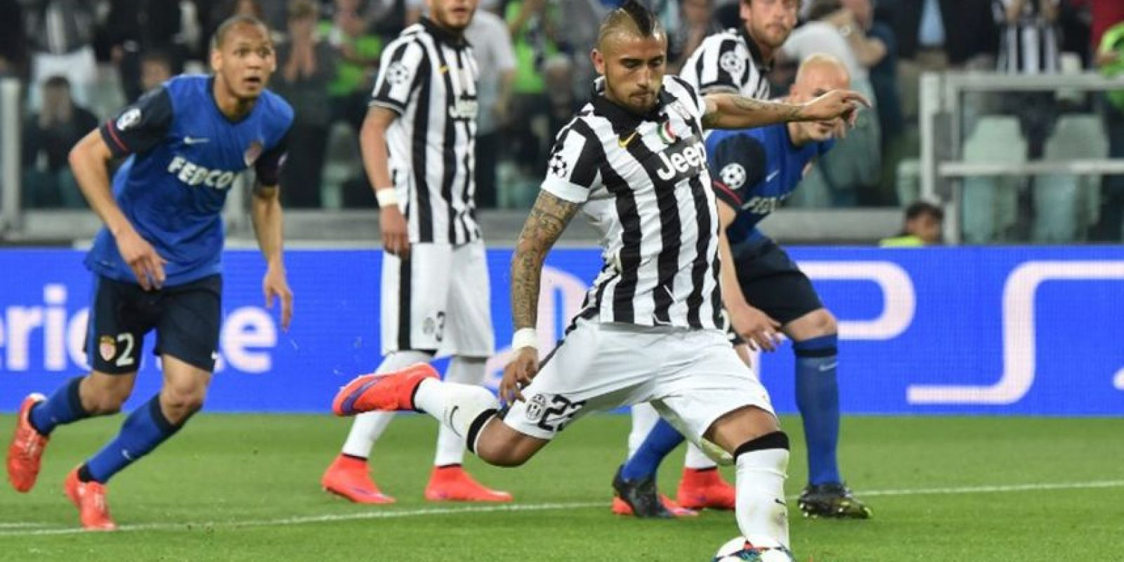 14 de abril de 2015. En el duelo de ida de cuartos de final, los italianos se impusieron 1-0 a Mónaco, en el Principado Foto:AFP