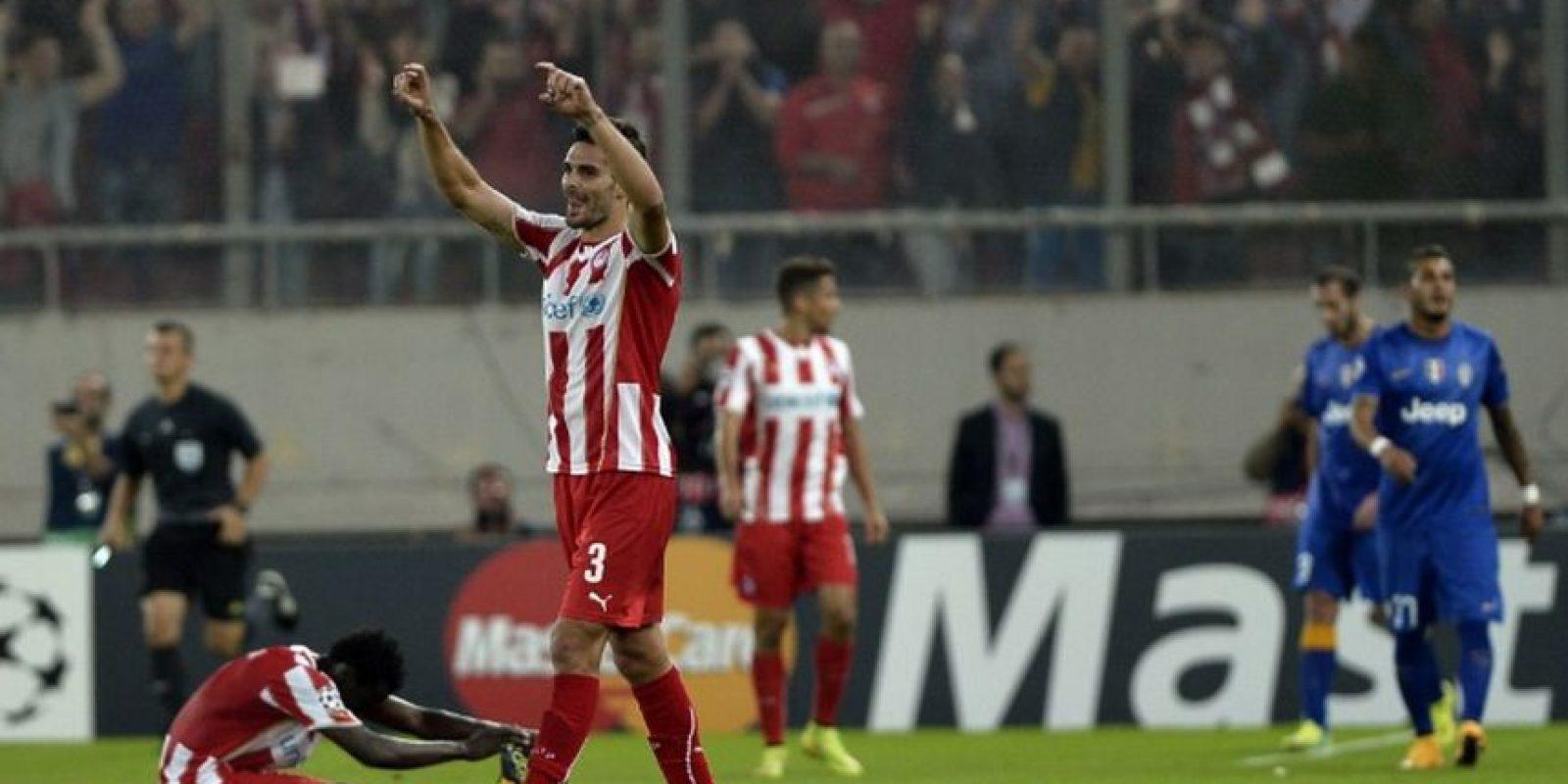Juve perdió 1-0 con Olympiacos Foto:AFP