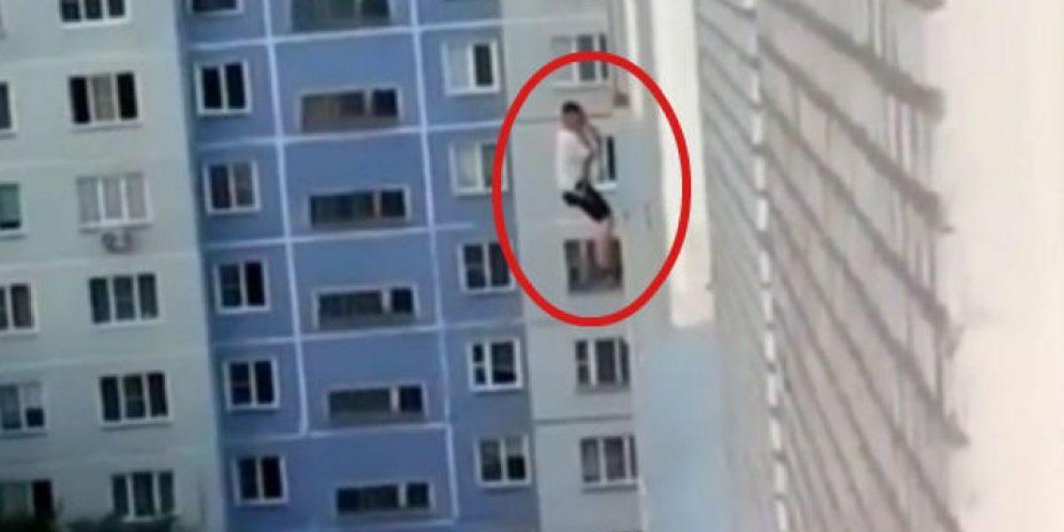 VIDEO: ¿Spiderman ruso? Lo hizo por amor, pero ella ni siquiera lo vió