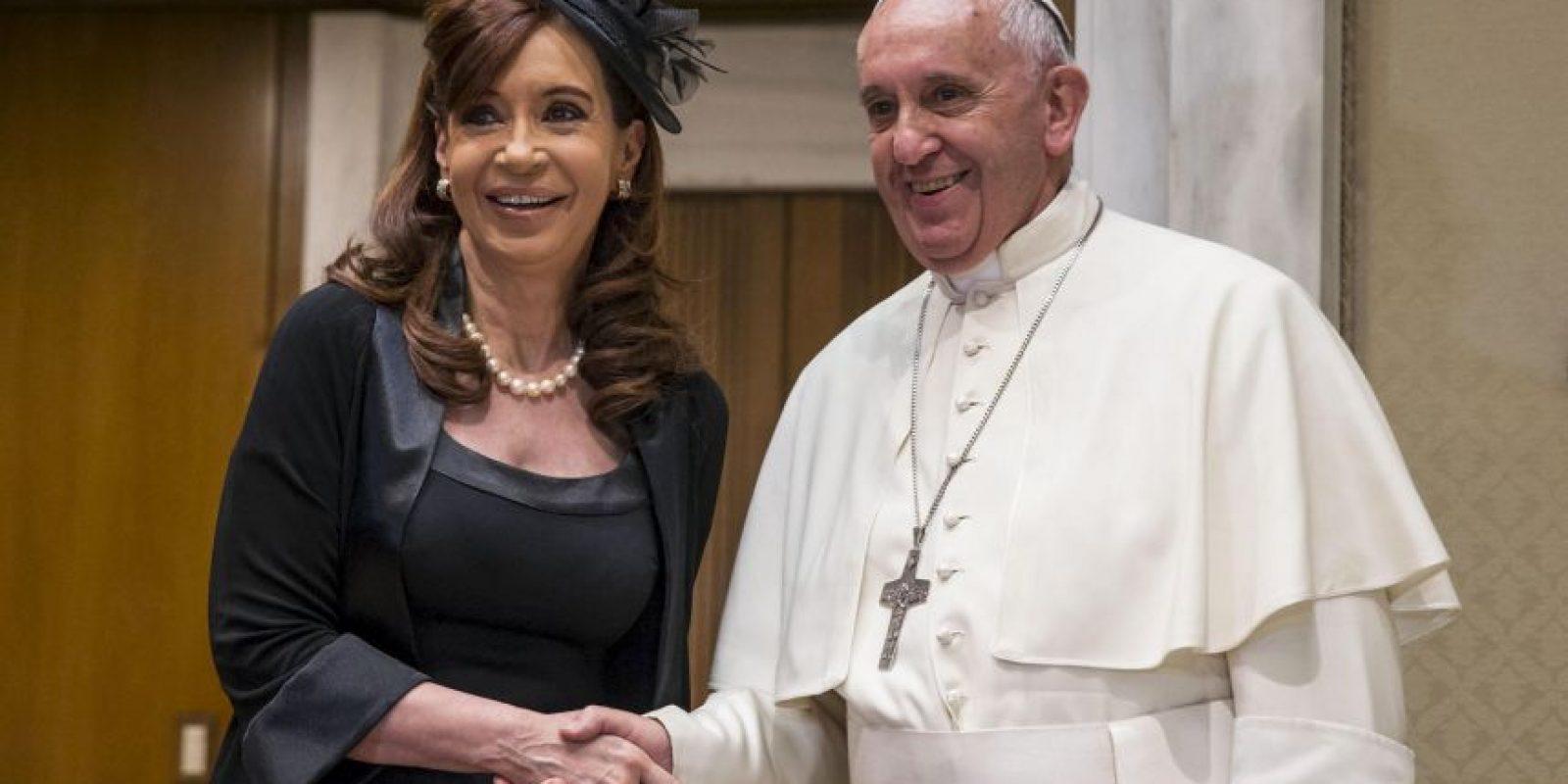 Fue la quinta vez que la presidenta argentina Cristina Kirchner y el Papa Jorge Bergoglio de reunieron. Foto:AFP