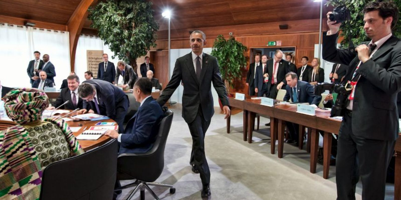 Como parte del G7, Obama se reunió con primer ministro de Irak, Haider al-Abadi, donde reiteró su compromiso con el país. Foto:Getty Images