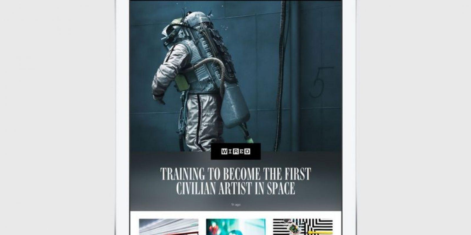Es una app para leer noticias en el móvil. Foto:Apple