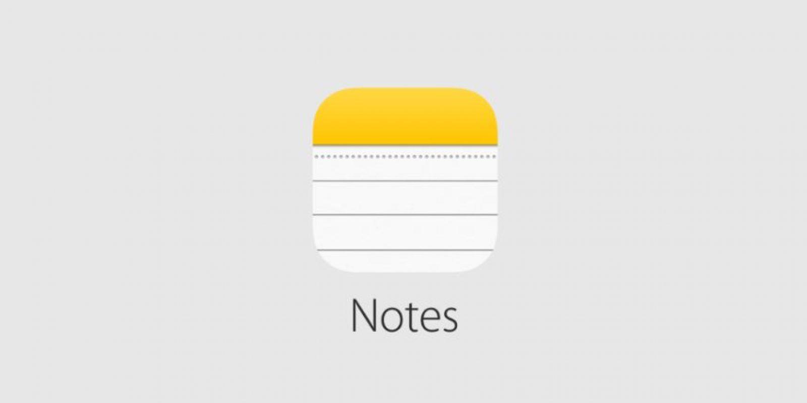 O Notes Foto:Apple