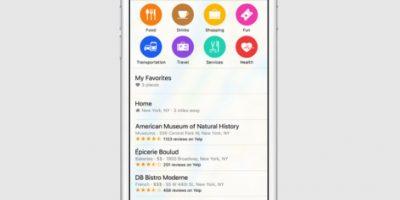 Se mostrará información de sitios de interés Foto:Apple