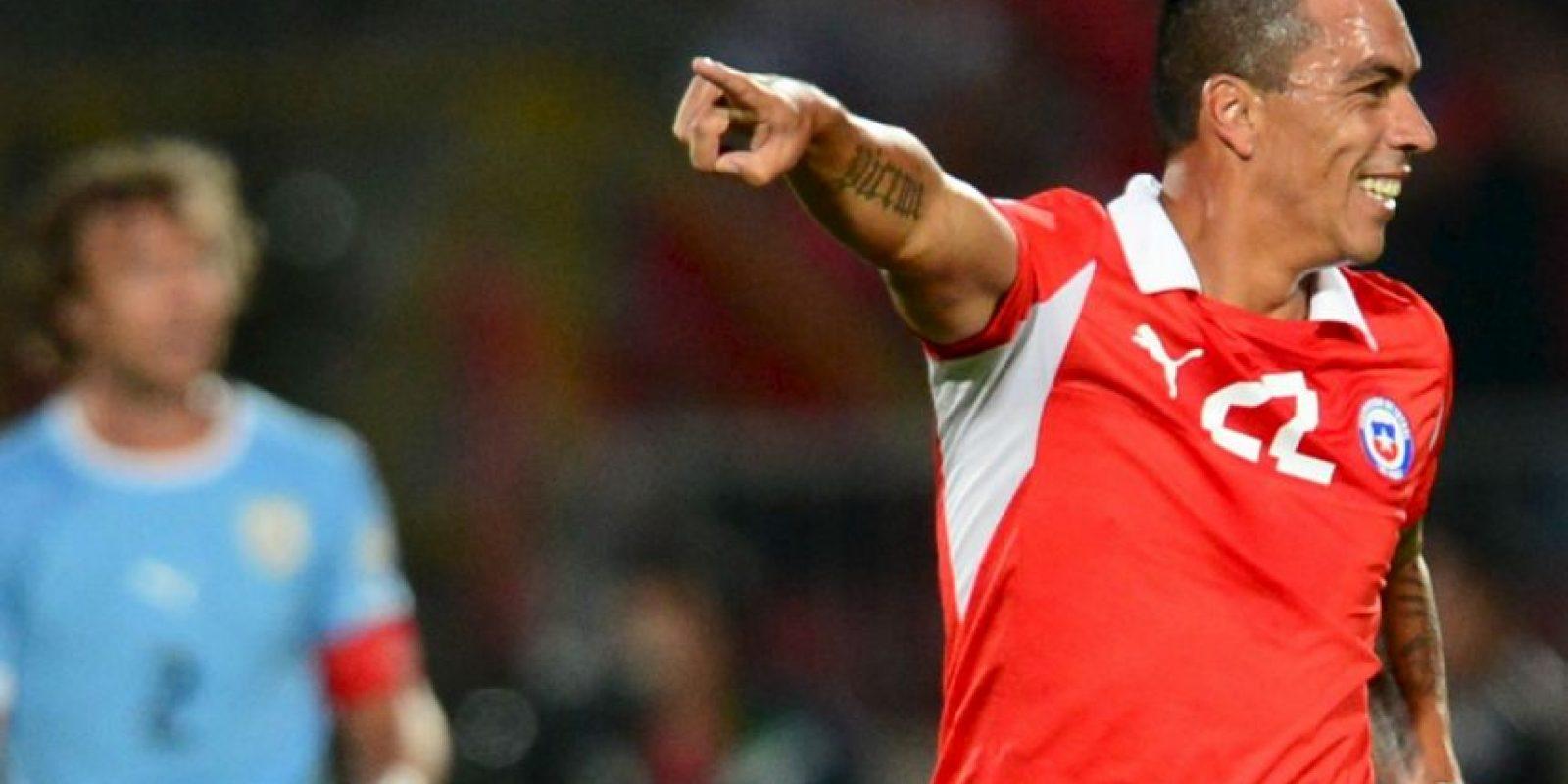 Esteban Paredes (Chile). Un desgarre marginó al delantero de Colo Colo de la Copa América Foto:Getty Images
