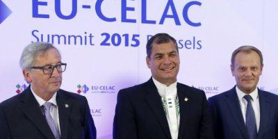 """Donald Tusk, presidente del Consejo Europeo, recordó que la UE es el """"primer inversor"""" y el """"segundo socio comercial"""" de la región latina y llamó a """"modernizar"""" la asociación estratégica que mantienen ambos bloques. Foto:AFP"""